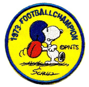 Snoopy Football Champion Sport Athletic Embroidered Peanuts Iron On / Sew On Patch