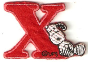 Snoopy ABCs Alphabet Letter X Iron On / Sew On Patch