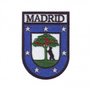 Spain Madrid Shield Embroidered Sew On Patch