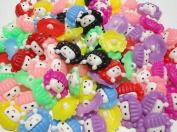 100pcs Doll Plastic Button Backhole Craft the Mix