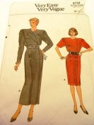 1986 Very Easy Very Vogue Pattern 9734 Womens Double Breasted Dress Size 8 10 12 Uncut