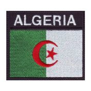 Algeria Badge Flag Embroidered Sew On Patch