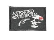 "AVENGED SEVENFOLD Iron On Skull Patch 3""/7.5cm x 2""/5cm BY MNC SHOP"