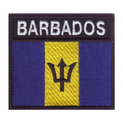 Barbados Badge Flag Embroidered Sew On Patch