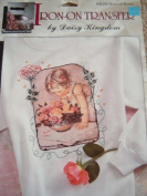 BOWL OF ROSES - NOSTALGIA COLLECTION IRON ON TRANSFER BY DAISY KINGDOM #06104