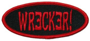 Creepy Zombie Dead Horror Gothic Iron on Patch - Wrecker Name Tag KV41
