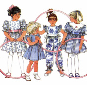Girls Dress and Jumpsuit 1990s Simplicity 7694 Sewing Pattern Size 5 - 6 - 6X