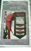LETTERS TO SANTA - CHRISTMAS WALL QUILT 28cm X 90cm PATTERN FROM HEART TO HAND