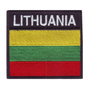 Lithuania Badge Flag Embroidered Sew On Patch