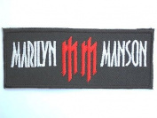 MARILYN MANSON MM Logo Iron On Goth Metal PatchApprox