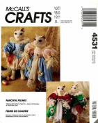McCall's 4531 Crafts Sewing Pattern Elizabethian Cat Doll Wardrobe
