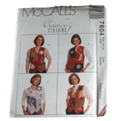 McCall's 7804 Sewing Pattern Misses Lined Vest and Appliques Size Large 16,18