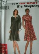MISSES MISS PETITE DRESS SIZES 6-8-10-12-14-16 IT'S SO EASY IT'S SIMPLICITY PATTERN 7942