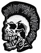 Punk Skull Exploited Sew-on Iron-on Patches Embroidered Applique Badge