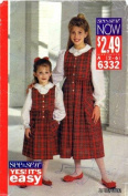 See & Sew 6332 Sewing Pattern Girls Jumper Top Size 2 - 6
