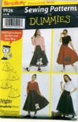 Simplicity 9926 Pattern Teens Circular Felt Skirt and Appliques Size A Waist 23-38