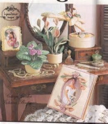 Simplicity Crafts Pattern 7040 Victorian Gift Ideas, Including Picture Frame, Photo Album, Covered Hangers, Band Box and Decorative Plants