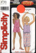 Simplicity It's so Easy Girls Tops, Pants and Shorts Sewing Pattern # 9785