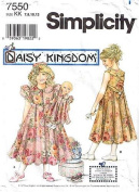 Simplicity Pattern #7550 - Daisy Kingdom - Child's Dress and Doll Dress for 43cm Doll