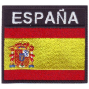 Spain Badge (B) Flag Embroidered Sew On Patch