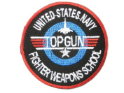 "TOP GUN Navy Fighter Pilot Weapons School Fancy Dress Iron On Embroidered Patch 2.9""7.4cm x 2.9""/7.4cm BY MNC SHOP"