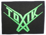 """TOXIK Logo Iron On Sew On Thrash Metal Band Embroidered Patch 3.1""""/8cm x 2.4""""/6cm BY MNC SHOP"""