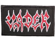 VADER Logo Embroidered Death Metal Iron On Patch Approx