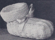 Vintage Knitting PATTERN to make - Baby Booties Soft Shoes Infant. NOT a finished item. This is a pattern and/or instructions to make the item only.