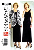 Womens Jacket and Dress See & Sew 4768 Sewing Pattern Size 8 - 10 - 12 - 14