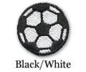 Soccer Ball Iron on Patch Black/White 10-Pack