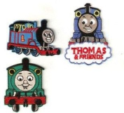 3pcs set of Thomas the Train Tank Engine Embroidered Iron On / Sew On Patch