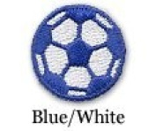 Soccer Ball Iron on Patch Blue/White 10-Pack