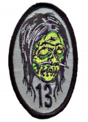 Shrunken Head Embroidered Patch