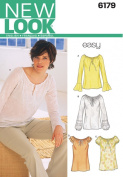 New Look Sewing Pattern 6179 Misses Tops, Size A