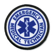 EMT EMERGENCY MEDICAL TECHNICIAN Fire Rescue 10cm Black Rim Sew-on Patch