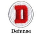 Iron on D for Defence Patch 10-Pack