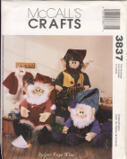 McCall's Crafts Sewing Pattern 3837 - Use to Make - Santa and Elves Doll with Clothes - 3 Styles of Outfits