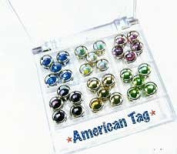 American Tag Preset Rhinestones - 6mm - Primary Colours