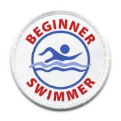 BEGINNER SWIMMER Pool Safety Alert 10cm Sew-on Patch