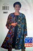 Butterick 3887 UNCUT 1990s Misses Very Easy Jacket and Skirt Sizes 12, 14, 16