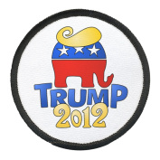 DONALD TRUMP for PRESIDENT Politics 2012 Hair 10cm Black Rim Sew-on Patch