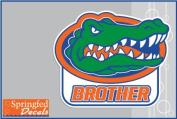 Florida Gators BROTHER w/ GATOR HEAD LOGO #1 Vinyl Decal Car Truck Window UF Mom Sticker