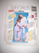 McCall's Easy Endless Options Pyjamas & Robe Pattern #3015 Size Y (Xsm-Sm) Taille