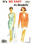 Simplicity 7667 Sewing Pattern Misses Jacket & Dress Size 8 - 20