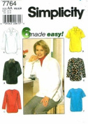 Simplicity 7764 Sewing Pattern Misses Pullover Tunic Size 6 - 16 - Bust 30 1/2 - 38