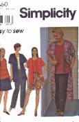 Simplicity Pattern # 7480. Easy to Sew Women's Jacket, Top, Pants, Shorts. Multiple Pattern Sizes.