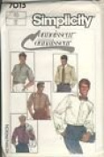 Simplicity Pattern #7015 SIZE 46 MEN