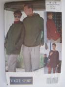 Vogue Pattern 8176 Unisex Top Sizes XS-S-M
