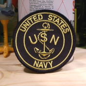 US Navy Logo Anchor II Embroidered Patch USN Made in USA