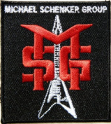 7cm x 7.6cm MICHAEL SCHENKER GROUP Logo Heavy Metal Rockabilly Rock Punk Music Band Logo jacket T-shirt Patch Iron on Embroidered music patch by Tourlesjours